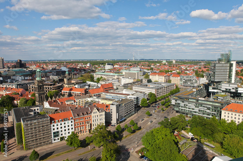 View on the center of Hannover, Germany