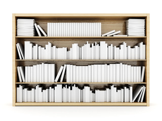 bookshelves on a white background