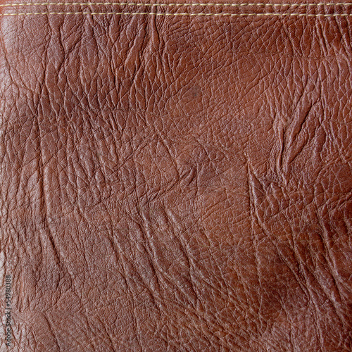 Texture of brown leather