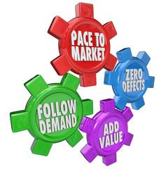 Lean Management Principles Production Manufacturing Efficiency