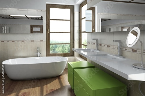 Modern design bathroom interior