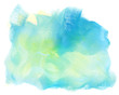 Abstract colorful watercolor wave background.