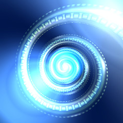 Abstract digital spiral background