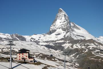 Matterhorn above Riffelberg in Swiss Alps