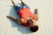 Man on sand