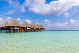 Water villas in shallow water