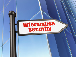 Privacy concept: Information Security on Building background