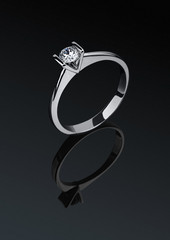 Jewelry ring with diamond
