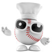 Baseball wears a chefs hat
