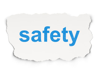 Security concept: Safety on Paper background