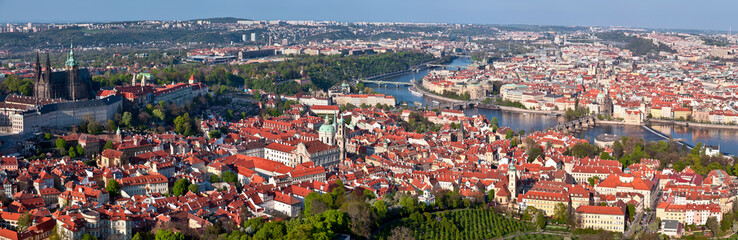 Panorama of Prague.