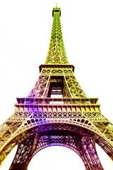Tour Eiffel multicolore