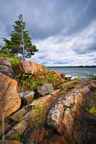 Rocky shore in Georgian Bay