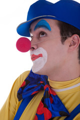 Clown isolated on white background
