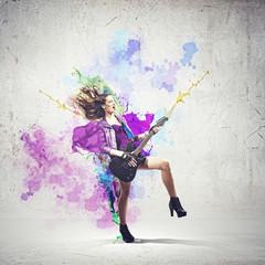 Rock passionate girl
