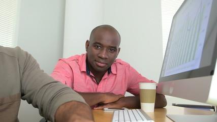 Portrait of black businessman