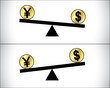 Forex Trading between currencies - US Dollar and Japan's Yen