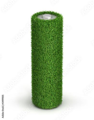 AA battery from grass