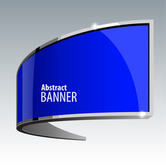 Shiny gloss blue vector banner eps 10