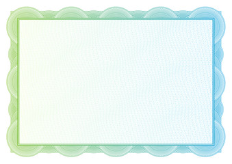 Certificate. Vector pattern for currency and diplomas