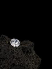 Diamant auf Lavastein