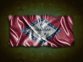 Vintage Arkansas flag.