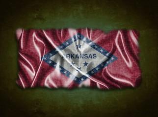 Vintage Arkansas flag.
