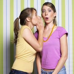 Mädchen, Teenager, Flüstern