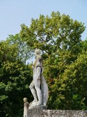 Statue on the roof of the villa Rotonda near Vicenza