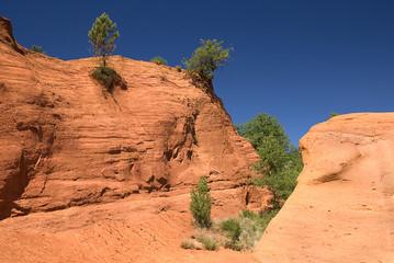 Frankreich, Provence, Colorado Provencal, Ocker Felsen