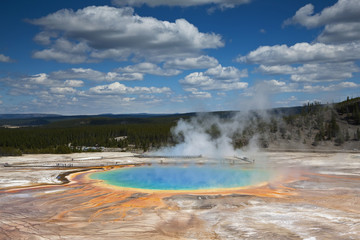 USA, Wyoming, Yellowstone National Park, Midway Geyser Basin
