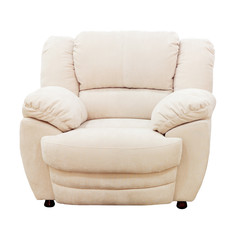 Armchair isolated on white background