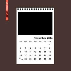 November 2014 calendar vector