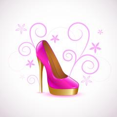 pump pink gold schnörkel