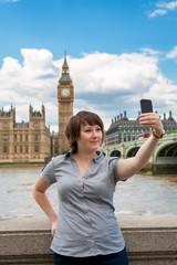 Photograph of herself. London, UK