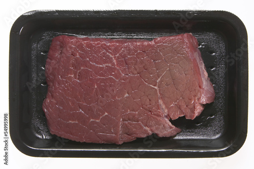 Raw Steak in Styroporbox