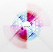 Radial colorful futuristic background