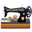 Sewing machine, vector