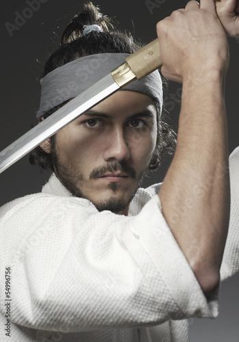 Samurai mit Schwert