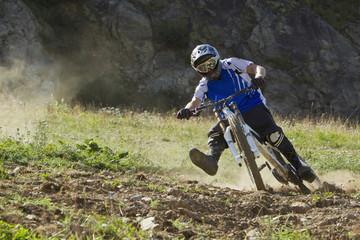 Frankreich, Dauphiné, Vaujany, Biker Reiten Mountain-Bike