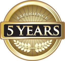 Five Years Experience Pure Gold Award