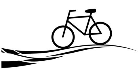 Silhouette Fahrrad