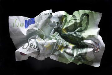 Zerknittert 100 Euro Banknote