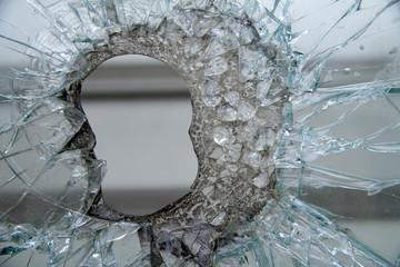 Zerschmetterten Schaufenster