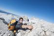 Österreich, Steiermark, Dachstein, Junger Mann Klettern