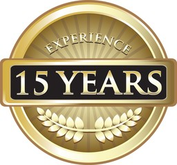 Fifteen Years Experience Pure Gold Award