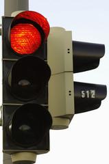 Ampel zeigt rot