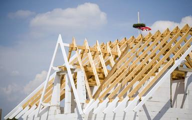 Deutschland, 'Richtbaum', Bau des Hauses feiern, Richtfest