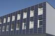 Deutschland, Bayern, Ingolstadt, Sonnenkollektor Fassade