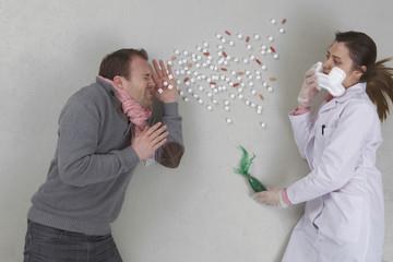 Patient niest, Ärztin